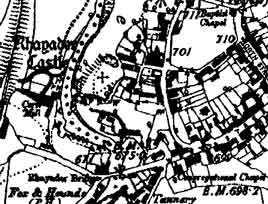 1891 map of Rhayader
