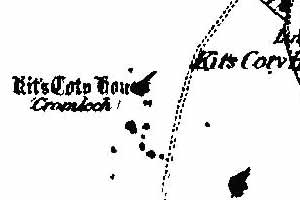 1891 map of Kit's Coty House (click to enlarge)