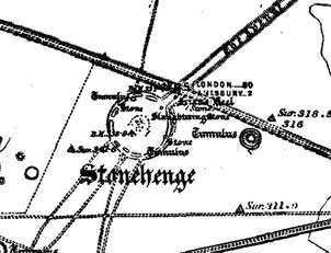 1891 map of Stonehenge (Click to enlarge)