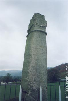 Eliseg's Pillar - view to the South - part of territory re-claimed? Keith Nurse, May 2003.